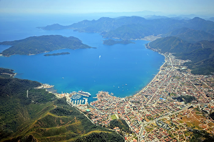 Marmaris Cruise Port in Turkey, the port of call with a view for ...